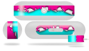 Ripped Colours Hot Pink Neon Teal Decal Style Skin - fits Beats Pill Plus