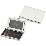 Visol Athena Mirror Finish Business Card Case with Built-In Photo Frame