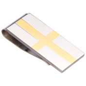 James Cavolini Two-Tone Stainless Steel IP Gold Cross Money Clip