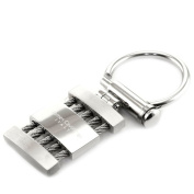 James Cavolini Stainless Steel Lock and Load Rope-Bar Key Chain