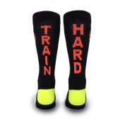 Inspyr Socks, Train Hard Athetic Lifestyle Crew Sock Large