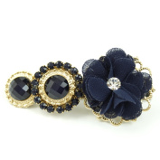 rougecaramel - - Fantasy Flower Clip Hair Accessories and Gold Coloured Metal - Blue