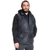 Excelled Men's Stylish Knit All Over Camo Print Hooded Vest