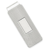 925 STERLING SILVER TEXTURED ENGRAVABLE MONEY CLIP