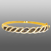 Gold Over Bronze Crystal Kite Bangle