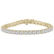 11 Carat Classic Diamond Tennis Bracelet in 14K Yellow Gold