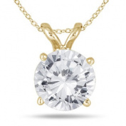 1 Carat Diamond Solitaire Pendant in 14K Yellow Gold