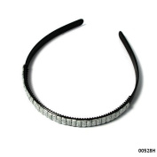 Hair Band in Black with Silver Trim
