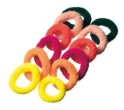 Terry Cloth Braided Rubber Pack of 12, Assorted Colours