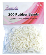 Dream Fix Rubber Band Rubber Bands Pack of 300 White