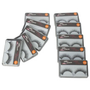 Taobaopit New 10 Pair Reusable Long Fake False Eyelashes Glue Adhesives Eye Lashes Makeup Black 026 by Evermarket