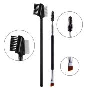 iLuLu Eyelash Comb and Eyebrow Brush Professional Makeup Tools Set 2 Pieces
