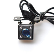 COCAR Car Auto Screw Mount Front View Forward Camera 170 Degree View Angle - Non-mirrored Image without Grid Lines - 4 Infrared Lights Night Vision