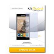 2 x disGuard Diamond Clear Screen Protector for Philips V787 / V-787 - PREMIUM QUALITY