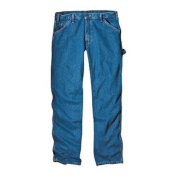 Men's Dickies Relaxed Fit Carpenter Jean 80cm Inseam Stone Wash Blue