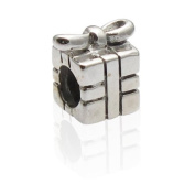 Charmies Gift Antique Silver Bead Compatible with Pandora, Amore & Baci and Chamilia, etc Silver 925