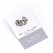 Squirrel pewter pin / lapel badge by Luna London, UK. Gift