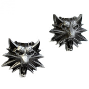 The Witcher 3 Wild Hunt Cufflinks - Wild Hunt Wolf Head Cuff Links- Video Game Jewellery for Men