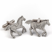 Horse pewter cufflinks by Metal Planet, UK