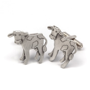 Cow pewter cufflinks by Metal Planet, UK