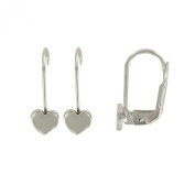 Suzette et Benjamin Heart Earrings Silver 925/1000 Silver Child
