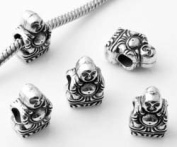 Buddha Women's Charm Bead suitable for Pandora Jewellery or similar - Silver Plated