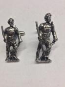 Roman Gladiator Retiarius WE-GP4 English Pewter Cufflinks