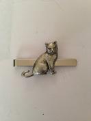 British Short Hair Cat PP-C03 English Pewter emblem on a Tie Clip