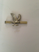 Osprey Bird PP-B10 English Pewter emblem on a Tie Clip