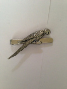 Parrot PP-B08 English Pewter emblem on a Tie Clip