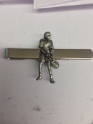 Tennis Player PP-SP03 English Pewter emblem on a Tie Clip