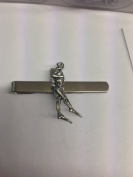 Diver Stepping Off PP-U06 English Pewter emblem on a Tie Clip