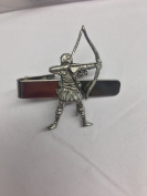 Archer (Robin Hood) Sport PP-G65 English Pewter emblem on a Tie Clip 4cm long