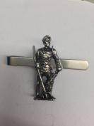 Roman Gladiator Retiarius WE-GP4 English Pewter emblem on a Tie Clip