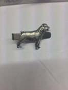 Rottweiler PP-D20 Dog English Pewter emblem on a Tie Clip 4cm long