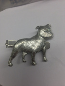 Staffordshire Bull Terrier PP-D15 Dog English Pewter emblem on a Tie Clip 4cm long