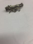 Border Collie PP-D21 Dog English Pewter emblem on a Tie Clip 4cm long
