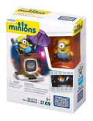 37 Piece Minions Mega Bloks Set - SILLY TV - Ages 5+ - Despicable Me Toys.