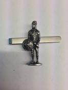 Knight CIRCA 1300AD WE-KKR English Pewter emblem on a Tie Clip