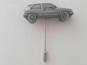 VW Golf Gti Mk2 ref300 Motif on a tie stick pin hat scarf collar coat