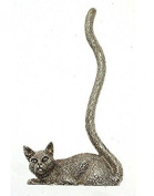 Cat Ring Stand Silver Plated