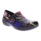 Women's Spring Step Manila Black Splatter Leather