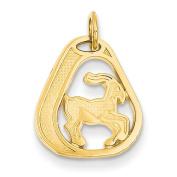 14k Yellow Gold Capricorn Charm