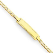 14k 15cm Engraveable Anchor Baby Child ID Bracelet - Lobster Claw