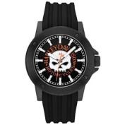 Harley-Davidson Men's Bulova Willie G. Skull Black Wrist Watch 78A115