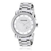 Luxurman Mens Diamond Watch 0.12ct