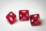 Star Wars X-Wing Miniatures Original Dice Clear Red Attack Dice x 3