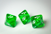 Star Wars X-Wing Miniatures Original Dice Clear Green Defence Dice x 3