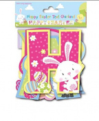 Happy Easter Garland Banner 2m Garland Party Decoration Bunny Rabbit Eggs Chicks