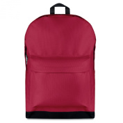 600D polyester large backpack - red